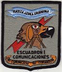 Distintivo del Escuadrón I de Comunicaciones (Antiguo):
