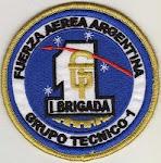"""Distintivo Grupo Técnico I - I Brigada Aérea """"El Palomar"""":"""