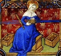Keskiajalla lautanauhan kutominen oli ylimysnaisten tehtävä, Tuntienkirja