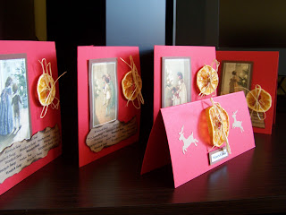 Christmas cards - collection red&brown