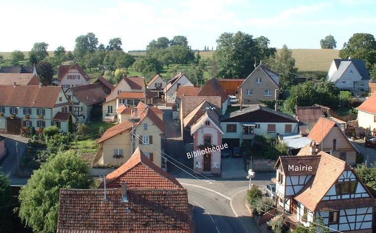 Bossendorf, vue du clocher de l'église