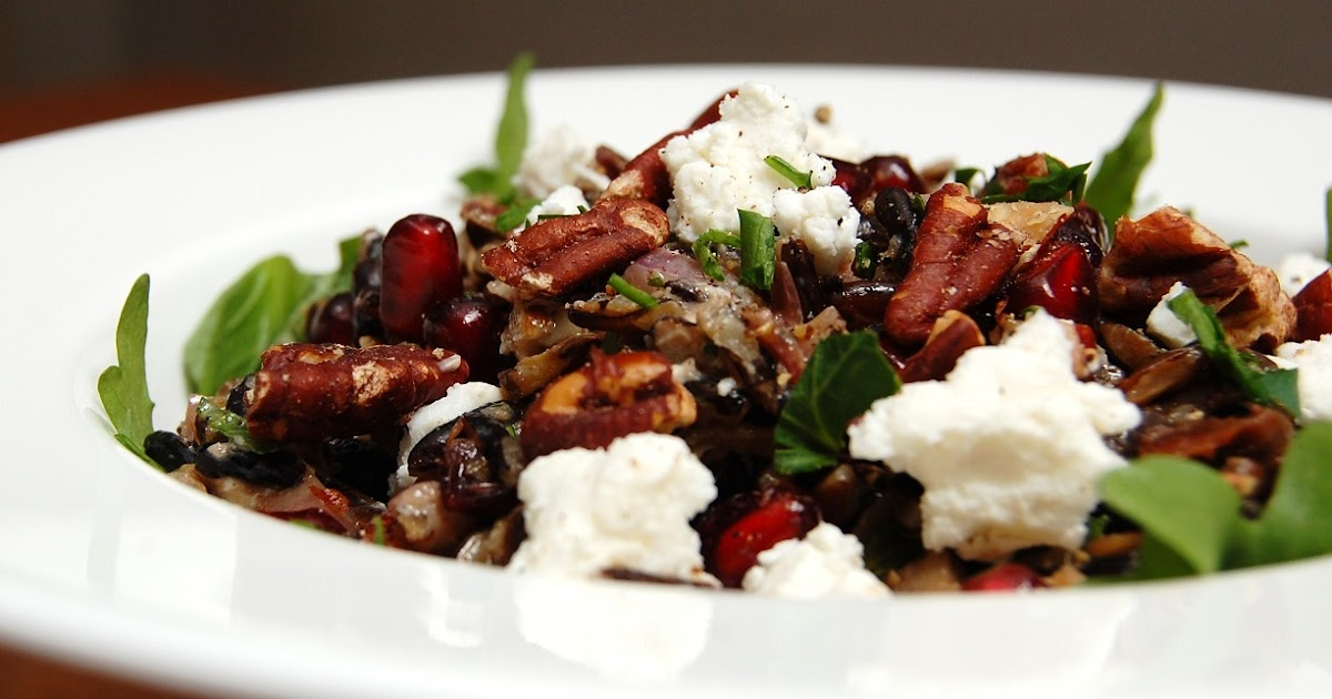 Feast: Wild Rice Salad with Portbellos and Dried Fruit