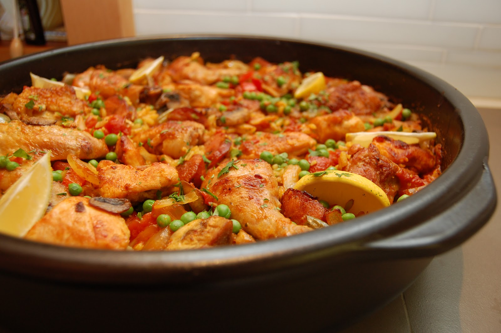 mushrooms and shrimp paella for 45 paella i seafood paella easy paella ...