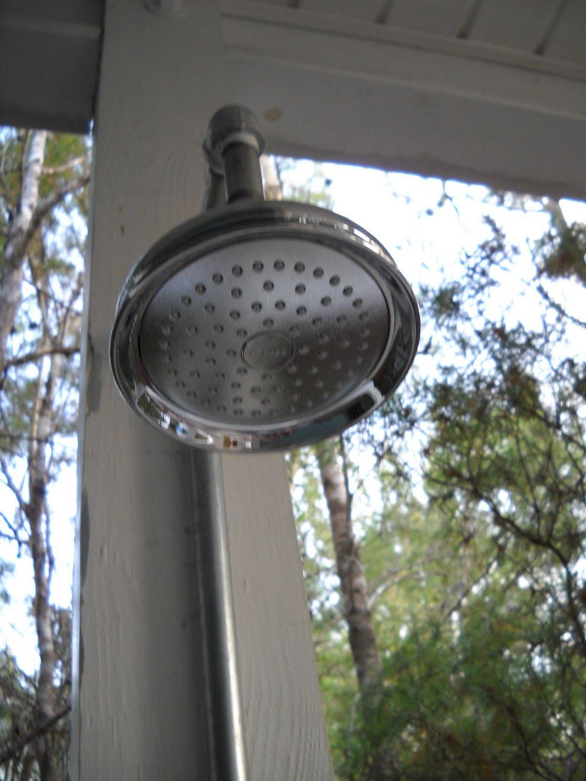home sweet home inspiration outside shower diy how to. Black Bedroom Furniture Sets. Home Design Ideas