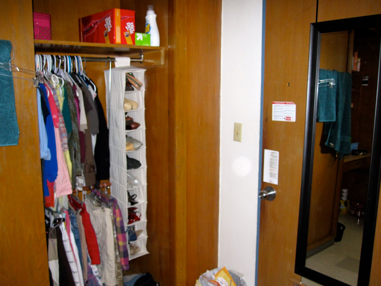 1. Do Not Move All Of Your Clothes In At Once. You Will Have Limited Dorm  Closet Space.