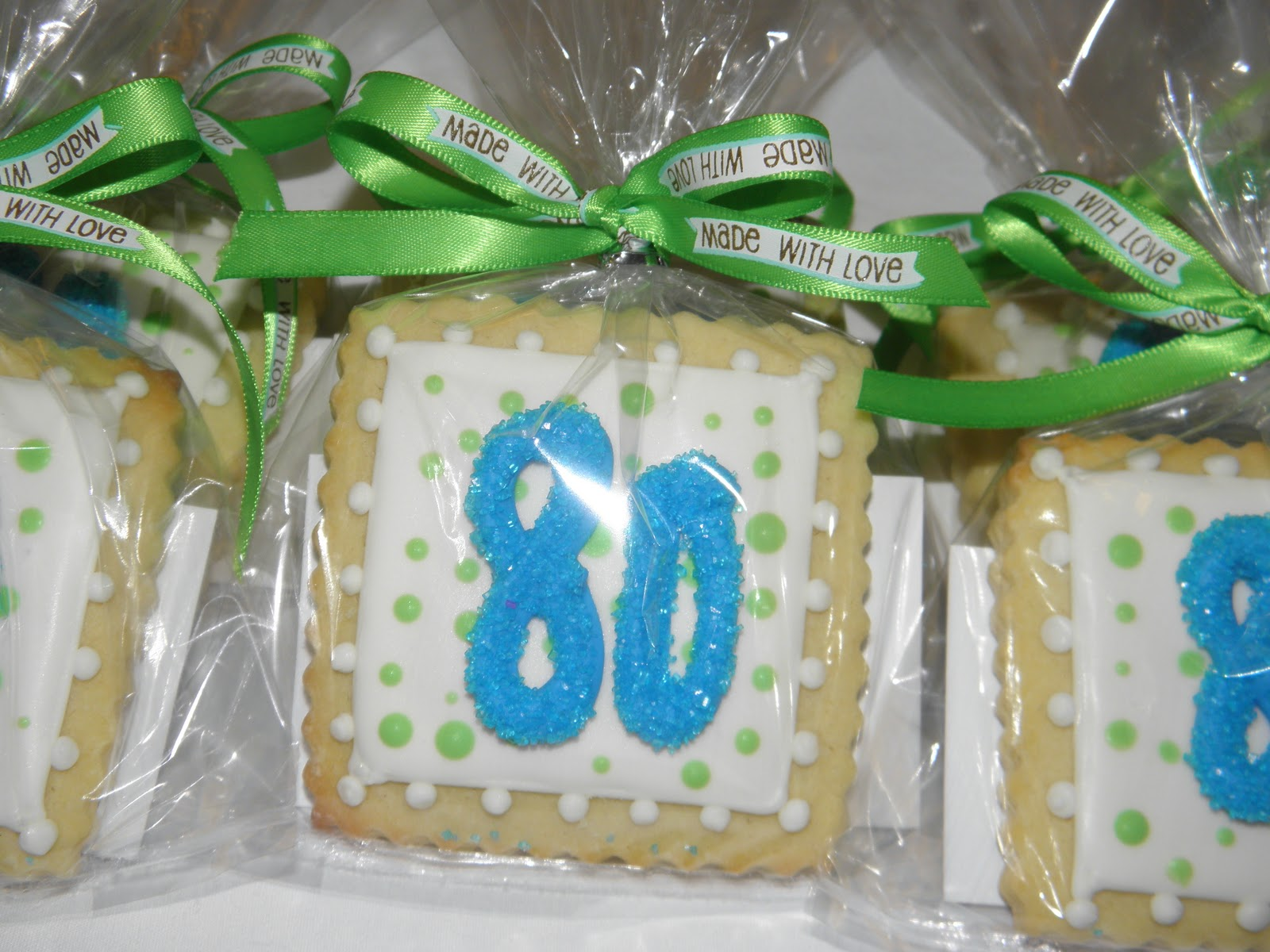Cookie Dreams Cookie Co.: 80th Birthday Cookie Favors