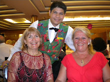 Chris and me with our gorgeous waiter Mark