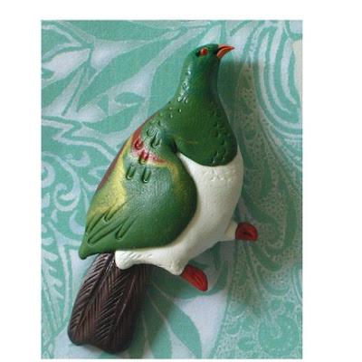 polymer clay bird