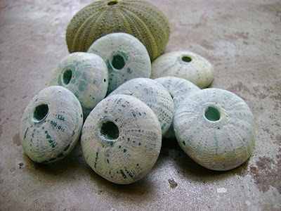 polymer clay sea urchin beads