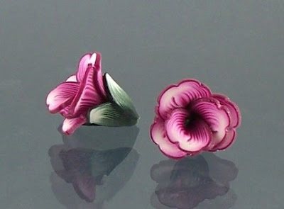 polymer clay, flower,  beads