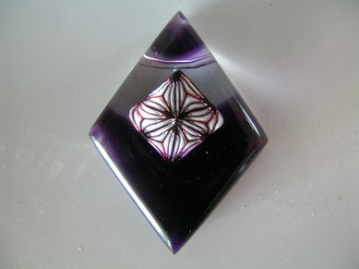 polymer clay resin pendant
