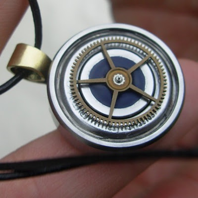 polymer clay industrial necklace