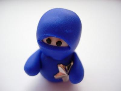 polymer clay ninja bead