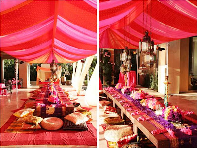 Indian Wedding Banquet setting