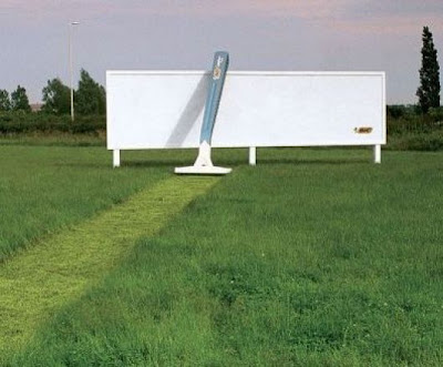 Creative advertising - razor