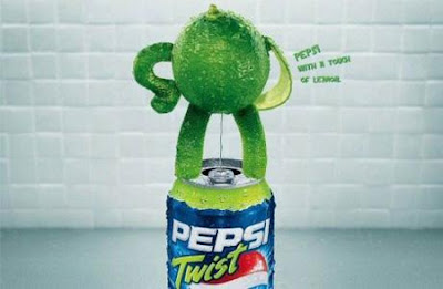 Creative Pepsi ads - Pepsi Lemon twist