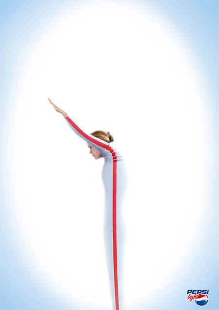 Creative Pepsi ads - Pepsi Light  advertisement