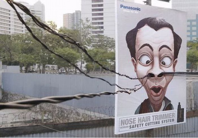 Panasonic Nose Hair Trimmer Creative Advertisement