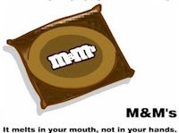 Funny m&m condoms package