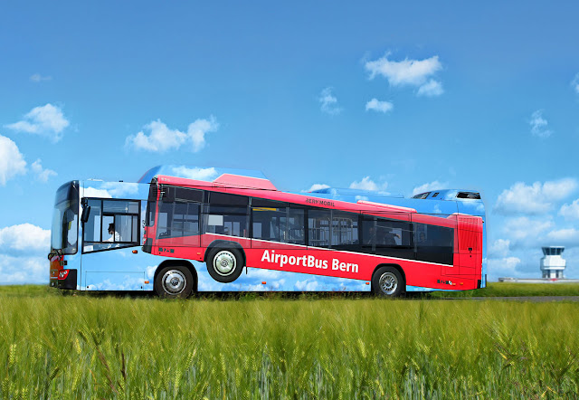 Bernmobil Airport bus advertisement