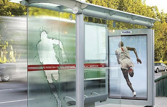 Nike Bernard Lagat creative bus stop advertisement