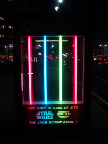 Star Wars  creative bus stop advertisement