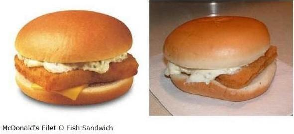Fast food advertising vs. real life
