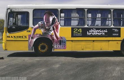 Japan bus advertisements