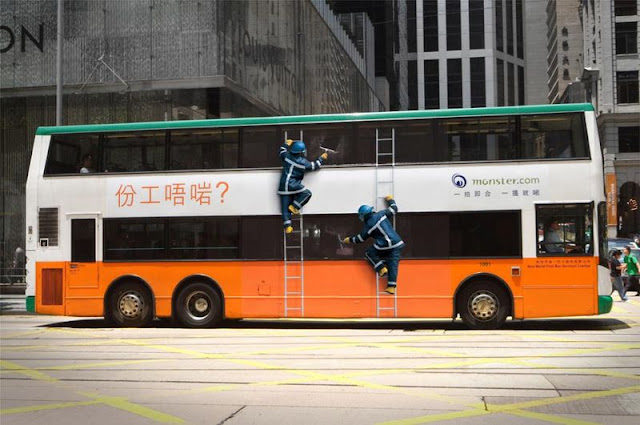 Monster wrong job bus advertisement