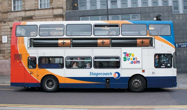 ToysDirect bus advertisement
