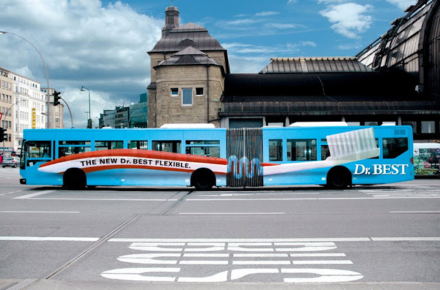 Dr. Best Flexible bus advertisement