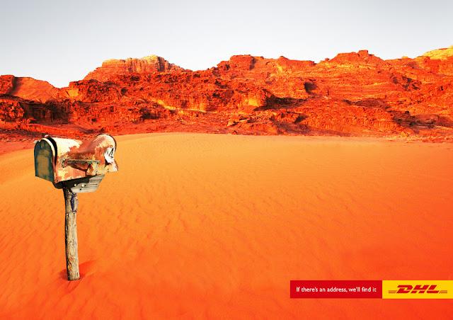 DHL Desert advertisement