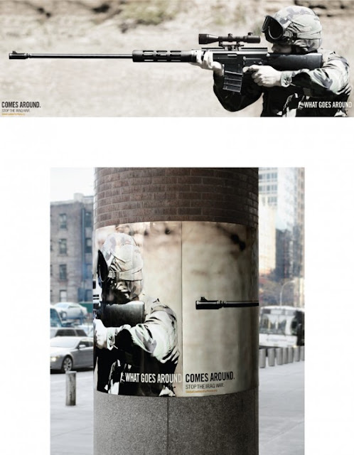 What goes around comes around antiwar posters