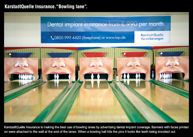 KarstadtQuelle Insurance: Bowling Lane ad