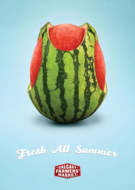 Calgary farmer's market - Fresh all summer watermelon