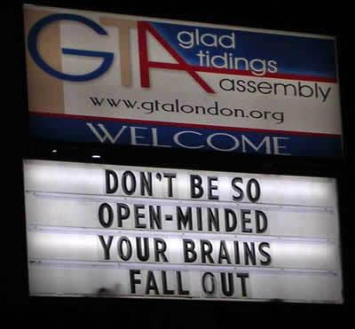 Funny and dumb church billboards