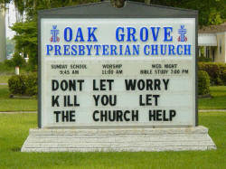 Funny and dumb church billboards