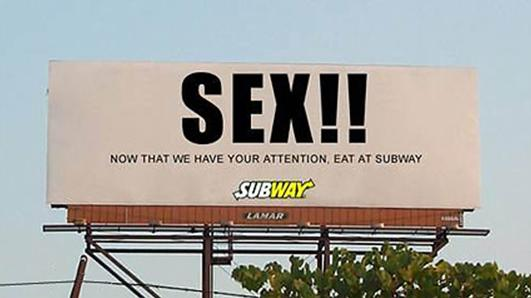 Funny billboards - Subway