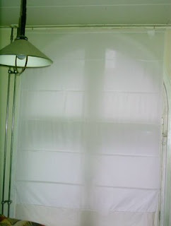 Look what i found simple pull up curtain for Pull up curtains how to make