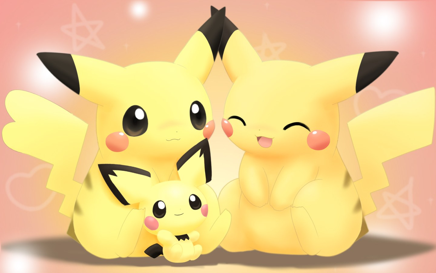 Pokemon pikachu with brother vector game - Cute pikachu love wallpaper ...