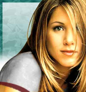 jennifer aniston hairstyle. aniston friends hairstyle.
