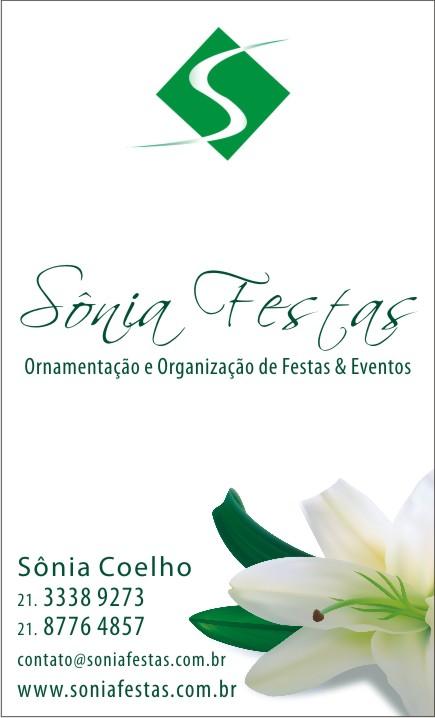 SONIA FESTAS ORGANIZACAO E ORNAMENTACAO DE FESTAS E EVENTOS