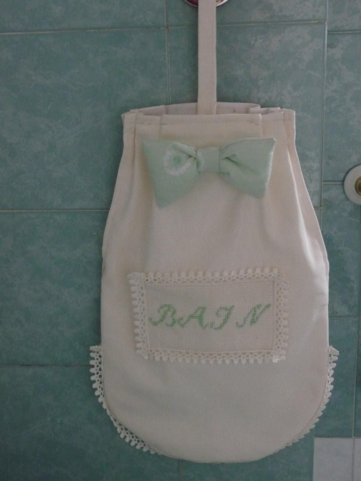 Improvvisamente creativa portarotoli portaoggetti per il bagno - Cucito creativo bagno ...