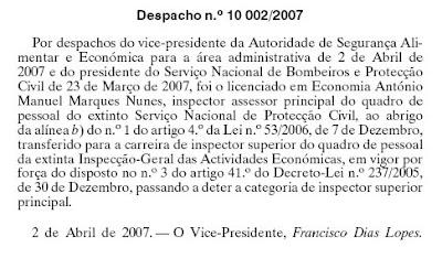 Despacho nº -2ª Série, de 30 de Maio.