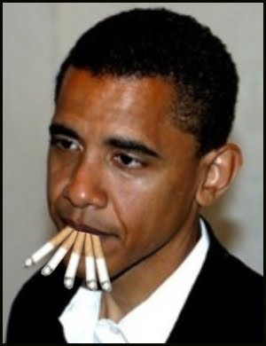 chain smoking obama