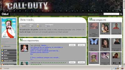Tema skin para Orkut  Call of duty
