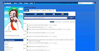 facebook skin layout - theme for facebook with colors