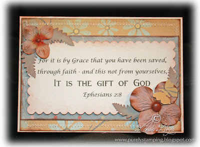 Card made with Crate Paper Ephesians 2:8