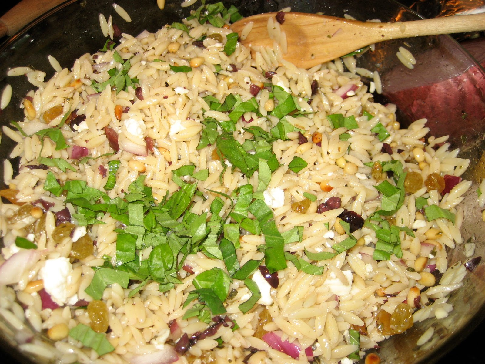 Stew In Summertime: Orzo Salad with Lemon, Feta and Pine Nuts