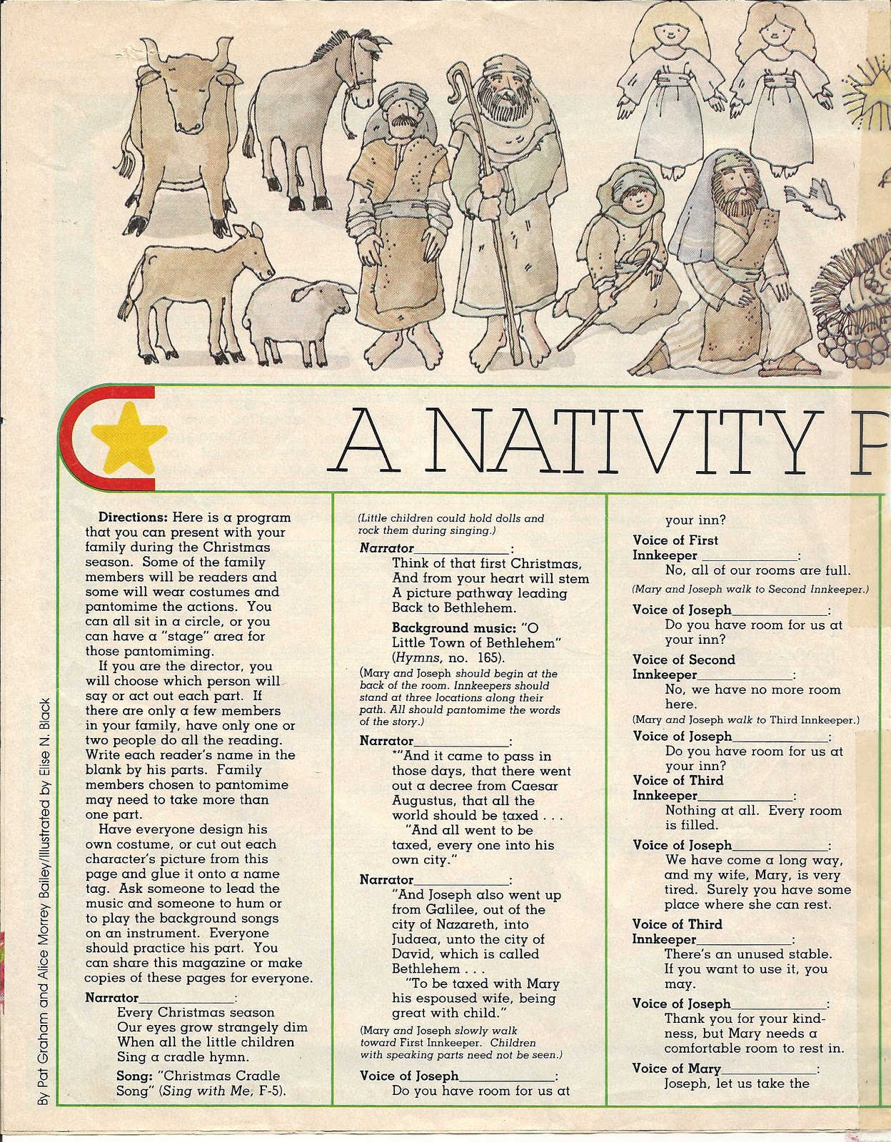 Homemakers Journal Christmas Pageant And Christmas Tree Symbols